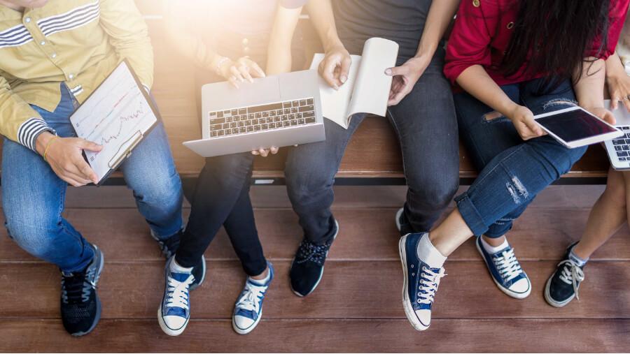 school-study-students-bench