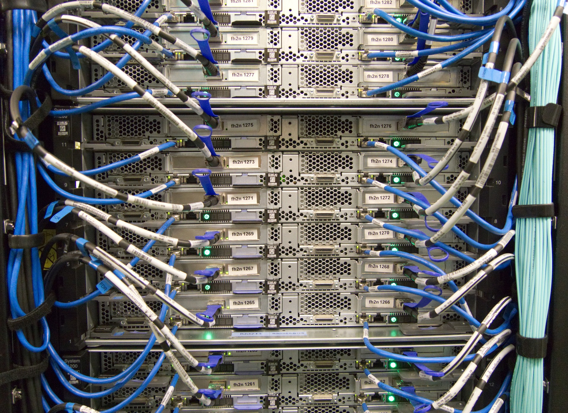 servers in a network room