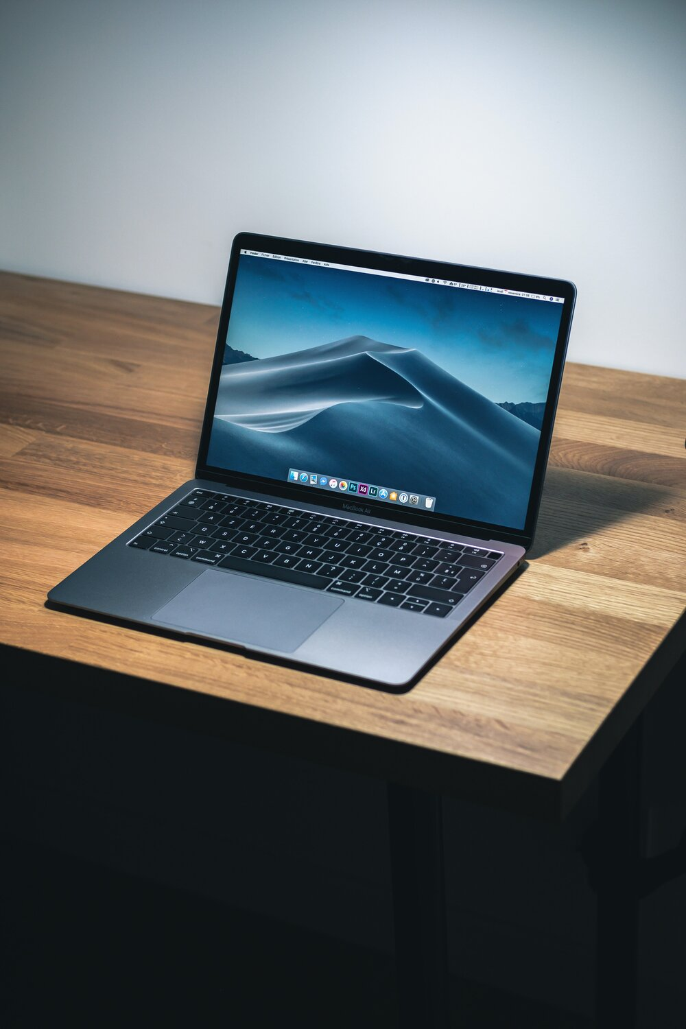 macbook pro on a surface